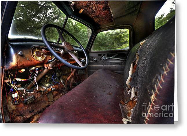 Clunker Greeting Cards - Rust in Peace Greeting Card by Jane Brack