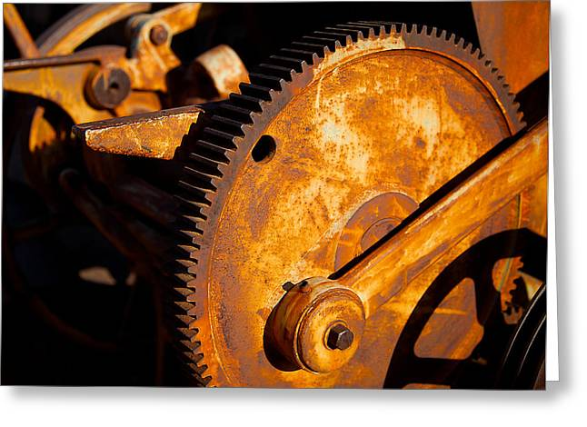 Mining Photos Digital Greeting Cards - Rust Greeting Card by Jephyr Art