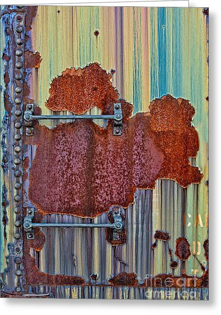 Rust Art Greeting Cards - Rusted Art Greeting Card by Susan Candelario