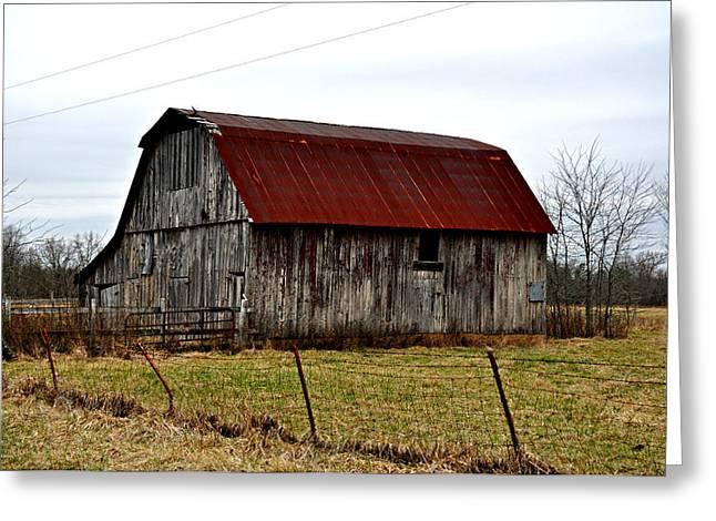 Rustic Barn 2 Greeting Card by Marty Koch