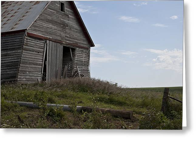 Rustic Barn Still Standing Greeting Card by Wilma  Birdwell