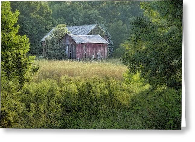 Rustic Barn Greeting Card by Tom Mc Nemar
