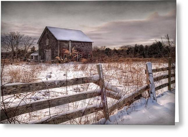Old Barns Greeting Cards - Rustic Chill Greeting Card by Robin-lee Vieira