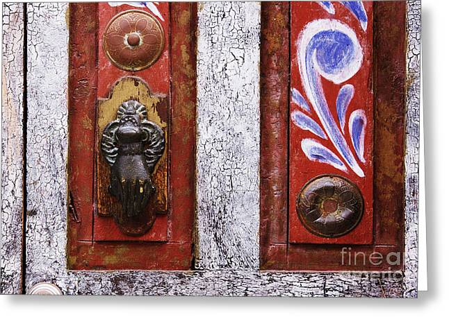 Art Of Building Greeting Cards - Rustic Door Greeting Card by Jeremy Woodhouse