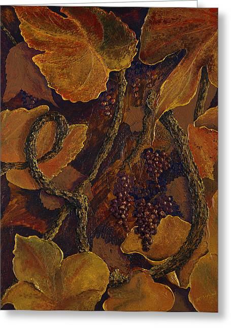 Rustic Harvest Greeting Card by Deborah Ellingwood