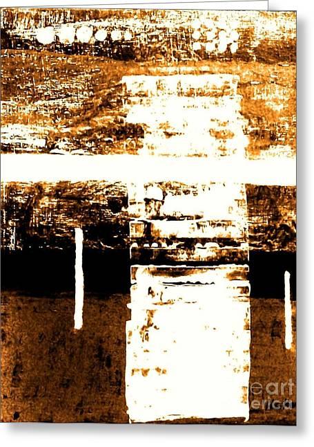 Rustic Modern Greeting Card by Marsha Heiken