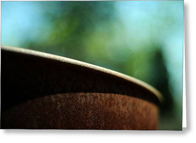 Rusted Barrels Greeting Cards - Rustic Greeting Card by Rebecca Sherman