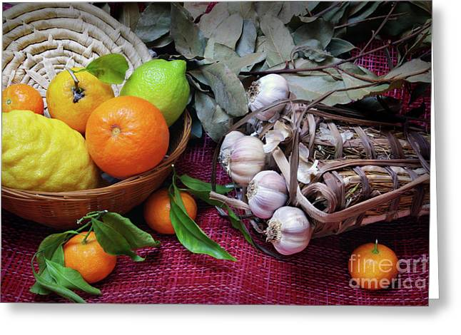 Rustic Still-life Greeting Card by Carlos Caetano