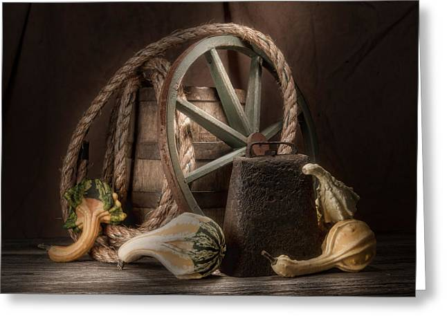 Gourd Greeting Cards - Rustic Still Life Greeting Card by Tom Mc Nemar