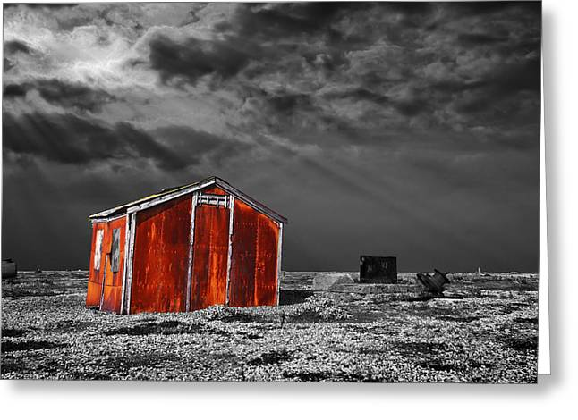 Shack Photographs Greeting Cards - Rusting Away Greeting Card by Meirion Matthias