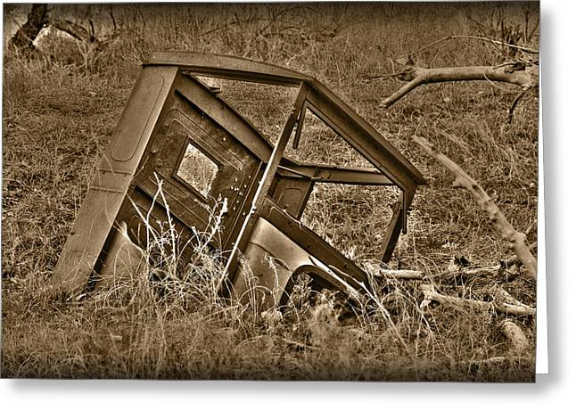 Ford Model T Car Greeting Cards - Rusting Away Greeting Card by Shane Bechler