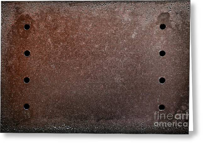 Rusty Iron Greeting Card by Carlos Caetano