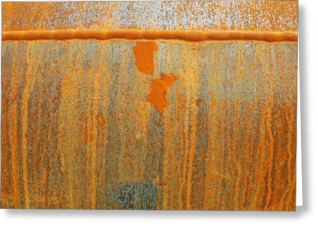 Rusty Lines I Greeting Card by Anna Villarreal Garbis