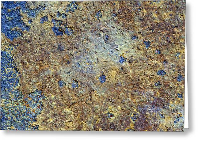 Metallic Sheets Greeting Cards - Rusty Metal Greeting Card by Michal Boubin