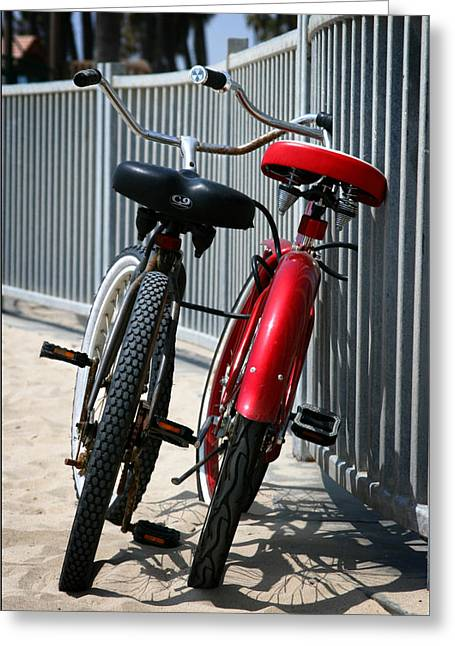 Beach Cruiser Greeting Cards - Rusty N Red Greeting Card by Shane Rees