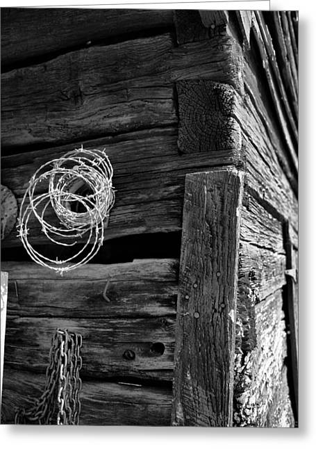 Barn Digital Greeting Cards - Rusty Nails Hold Up Time Greeting Card by Greg Sharpe
