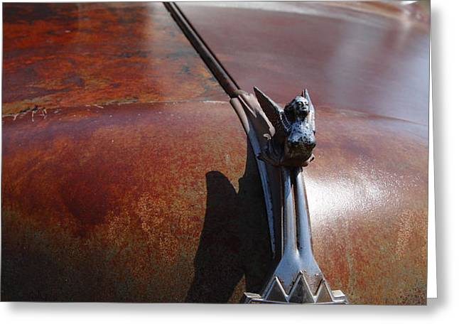Rusty Old 1935 International Truck Hood Ornament. 7D15506 Greeting Card by Wingsdomain Art and Photography