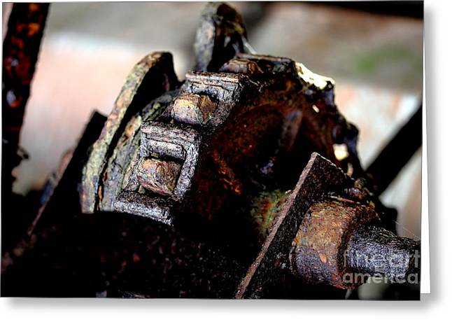 Pierced Greeting Cards - Rusty Old Farm Equipment 3 Greeting Card by Wingsdomain Art and Photography