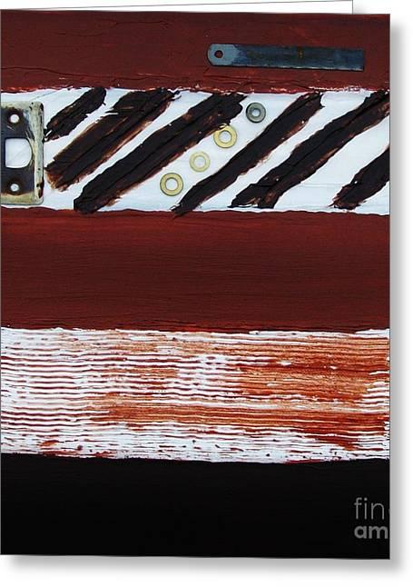 Sienna Digital Art Greeting Cards - Rusty Pieces Greeting Card by Marsha Heiken