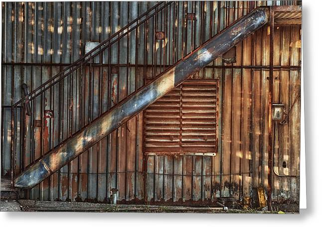 Rusty Stairway Greeting Card by Brenda Bryant