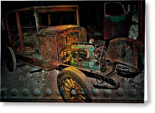 Nyc Posters Photographs Greeting Cards - RUSTY Travels Greeting Card by Jerry Cordeiro