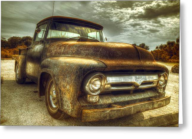 Rusty Pickup Truck Greeting Cards - Rusty Truck Greeting Card by Mal Bray