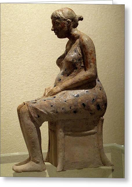 Sculptures Ceramics Greeting Cards - Ruta Greeting Card by Raimonda Jatkeviciute-Kasparaviciene