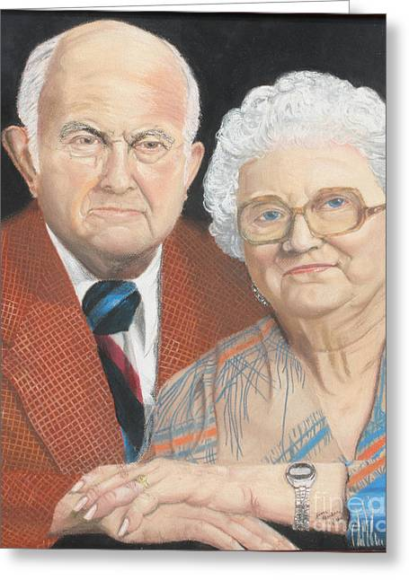 People Pastels Greeting Cards - Ruth and Bob Greeting Card by Jim Barber Hove
