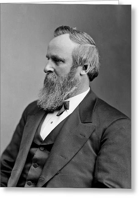 American Politician Greeting Cards - Rutherford B Hayes - President of the United States Greeting Card by International  Images
