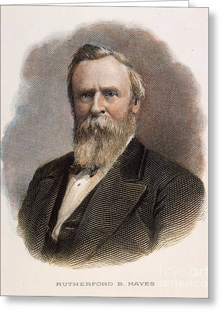 1870s Greeting Cards - Rutherford B. Hayes Greeting Card by Granger