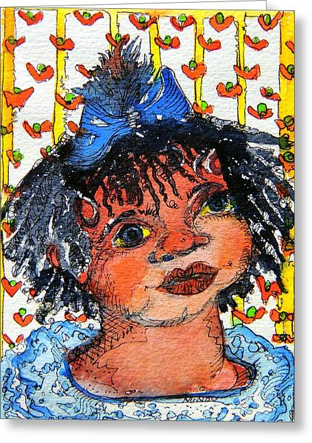 Ruthie Greeting Card by Mindy Newman