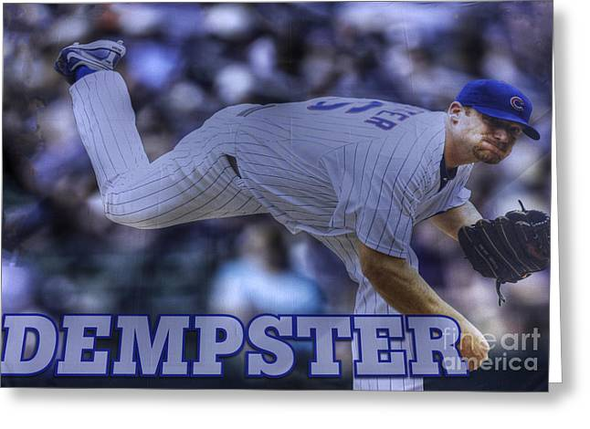 Friendly Confines Greeting Cards - Ryan Dempster Greeting Card by David Bearden