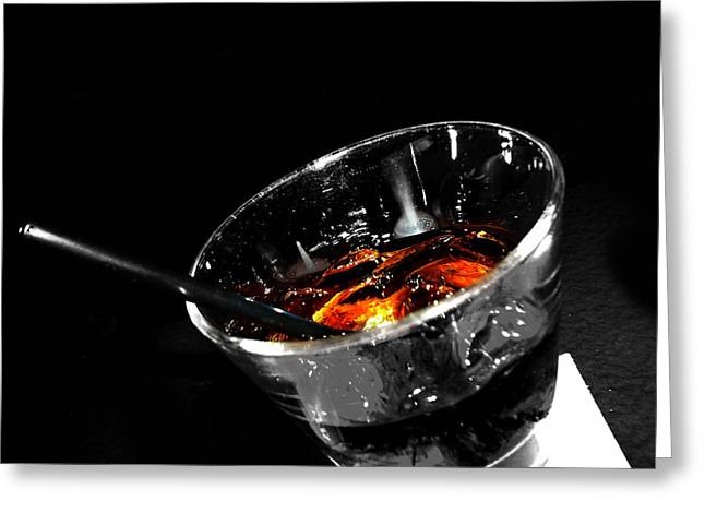 Edmonton Photographer Greeting Cards - Rye and Coke Please Greeting Card by Jerry Cordeiro