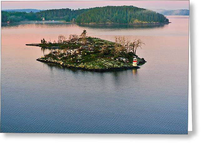 Ryssmasterna Lighthouse Sweden Greeting Card by Marianne Campolongo