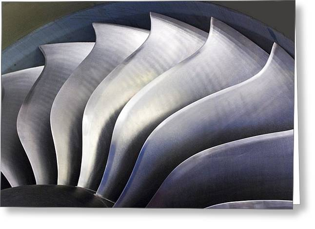 Tech-art Greeting Cards - S-curve Fan Blades Greeting Card by Mark Williamson