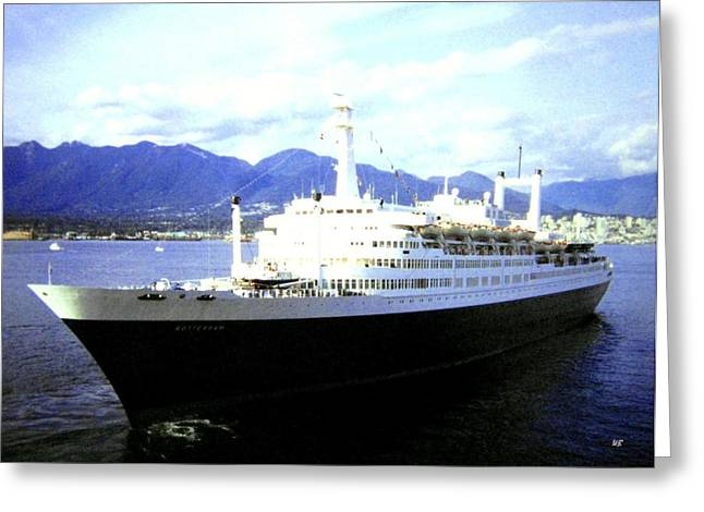 1992 Greeting Cards - S S Rotterdam Greeting Card by Will Borden