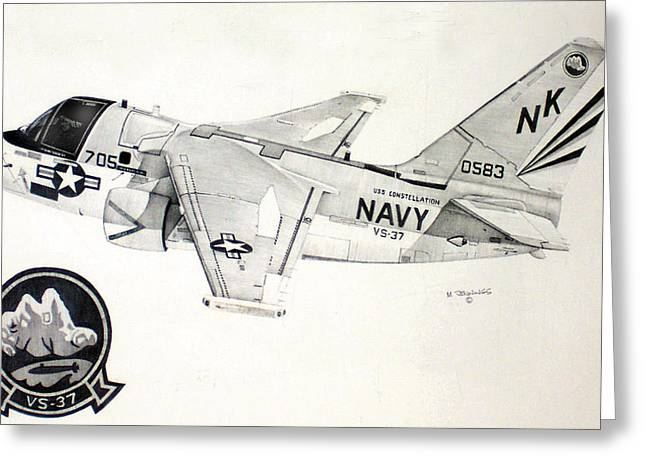 Carrier Drawings Greeting Cards - S3 Viking Greeting Card by Mark Jennings