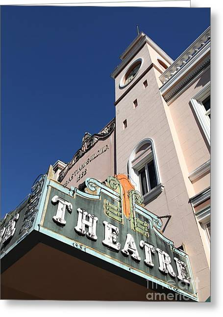 Sonoma Greeting Cards - Sabastiani Theatre - Downtown Sonoma California - 5D19279 Greeting Card by Wingsdomain Art and Photography
