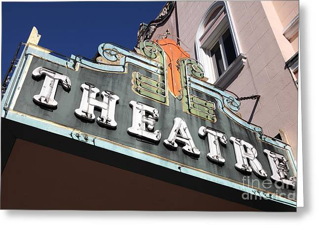Sonoma Greeting Cards - Sabastiani Theatre - Downtown Sonoma California - 5D19281 Greeting Card by Wingsdomain Art and Photography