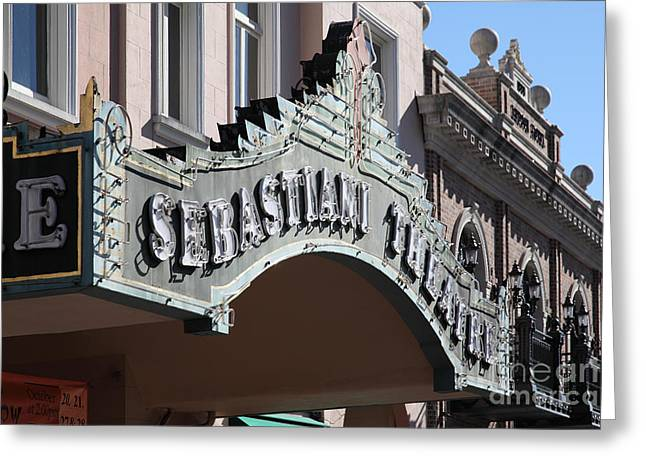 Sonoma Greeting Cards - Sabastiani Theatre - Downtown Sonoma California - 5D19288 Greeting Card by Wingsdomain Art and Photography