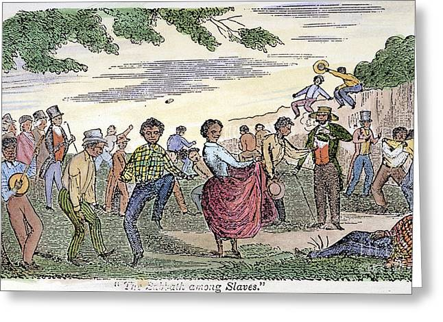 Farmers Field Greeting Cards - Sabbath Among Slaves, 1849 Greeting Card by Granger