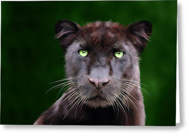 Saber Greeting Card by Big Cat Rescue