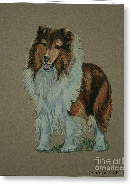 Champion Pastels Greeting Cards - Sable Champion Greeting Card by Susan Herber