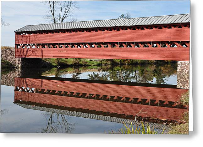 Covered Bridge Greeting Cards - Sachs Covered Bridge Near Gettysburg Greeting Card by Bill Cannon