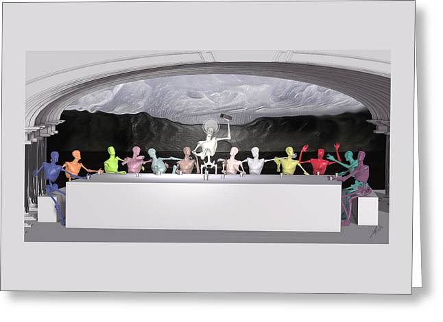 The Last Supper Greeting Card by Joaquin Abella