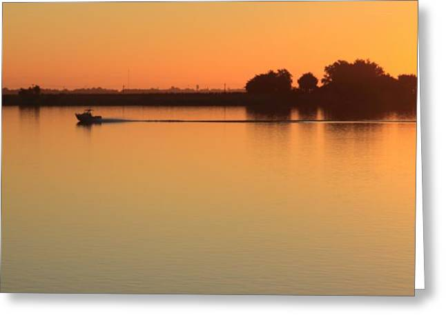 Sacramento River Sunrise Greeting Card by Troy Montemayor