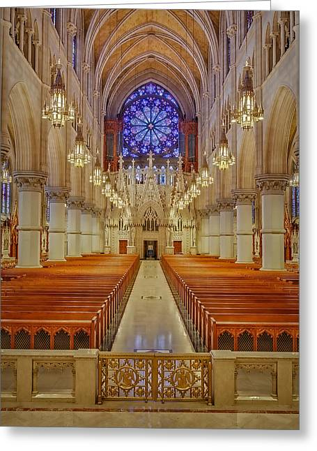 Sacred Heart Cathedral Basilica Greeting Card by Susan Candelario
