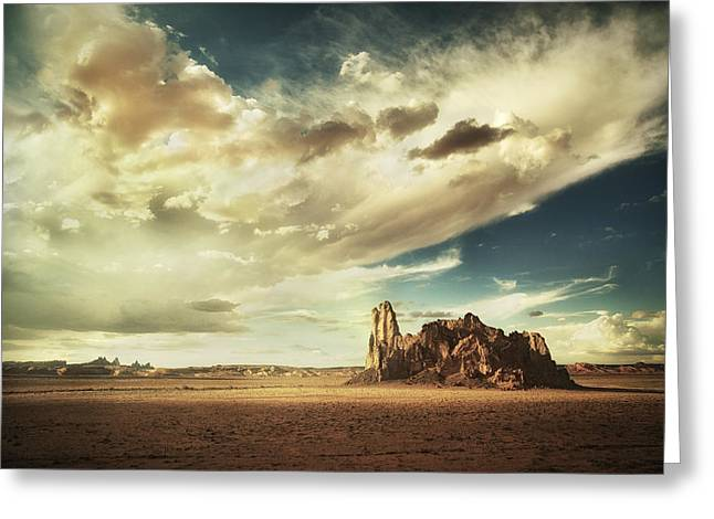 Sacred Land Greeting Card by Stuart Deacon