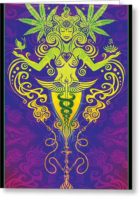 Visionary Art Greeting Cards - Sacred Smoke Greeting Card by Cristina McAllister