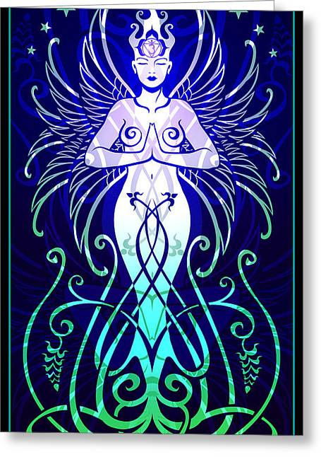 Goddess Greeting Cards - Sacred State Greeting Card by Cristina McAllister